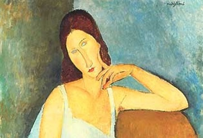 "Fonte: modificato da ""Amedeo Modigliani, 1919, Jeanne Hébuterne, oil on canvas, 91.4 x 73 cm, Metropolitan Museum of Art"""